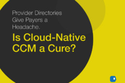 Provider Directories Give Payers a Headache. Is Cloud-Native CCM a Cure?-